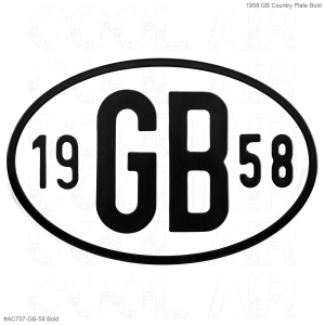 1958 GB Country Plate