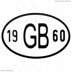 1960 GB Country Plate