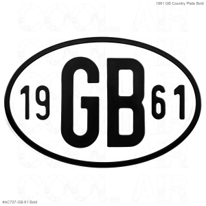 1961 GB Country Plate