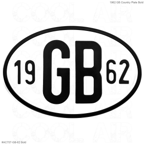 1962 GB Country Plate