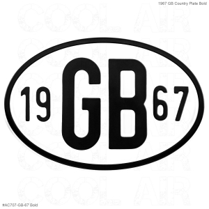 1967 GB Country Plate