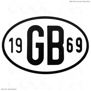 1969 GB Country Plate