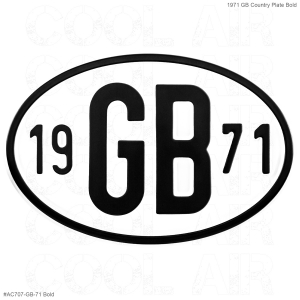 1971 GB Country Plate
