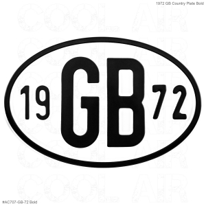 1972 GB Country Plate