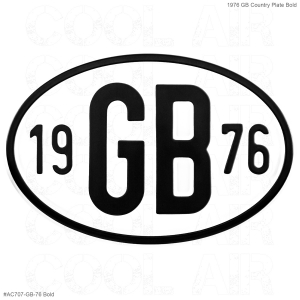 1976 GB Country Plate