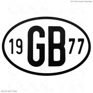 1977 GB Country Plate