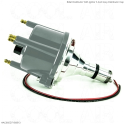 Billet Distributor With Ignitor 3 And Grey Distributor Cap