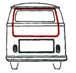 Splitscreen Bus Tailgate Seal - 1955-63