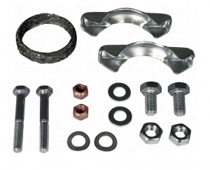 Baywindow Bus Exhaust Tailpipe Fitting Kit (1 Piece Tailpipe) - 1976-79