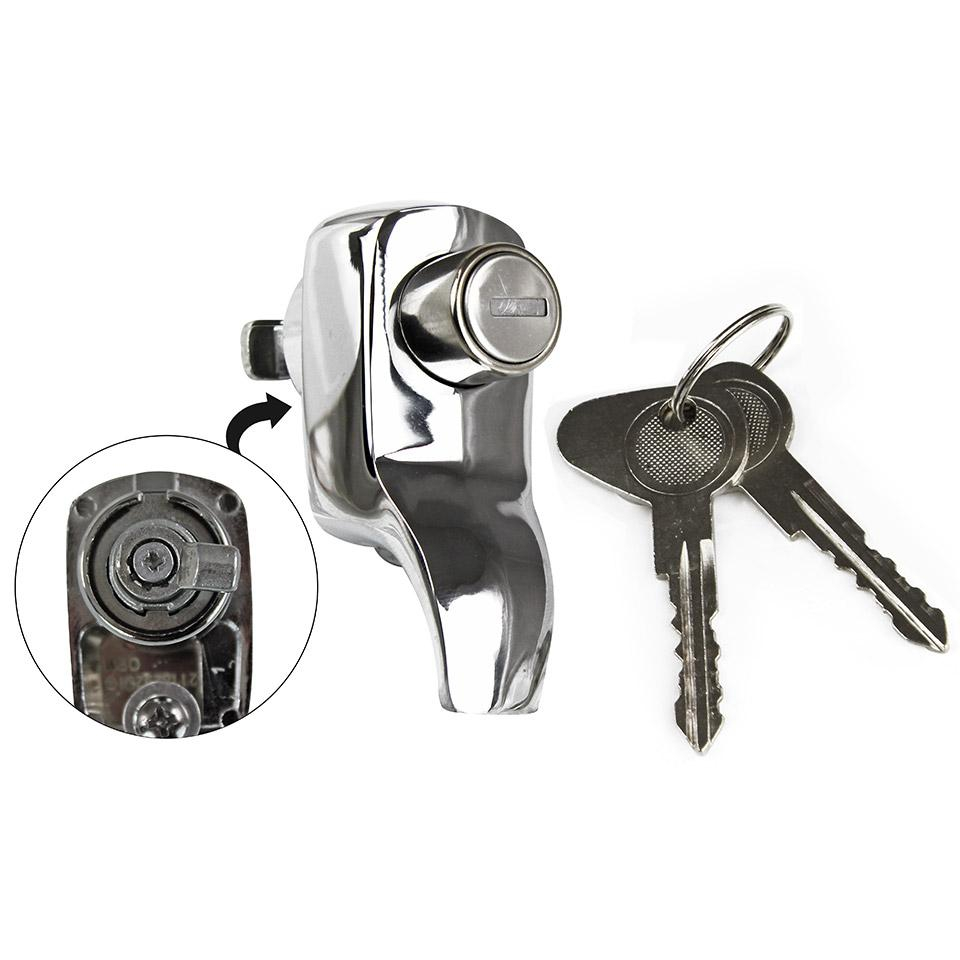 Baywindow Bus Tailgate Lock - 1968-71 (Also Splitscreen Bus Tailgate Lock - 1967 Only) - Top Quality