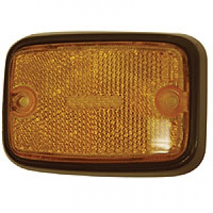 US Spec Baywindow Bus Side Marker - Amber Lens With Black Surround - 1971-79