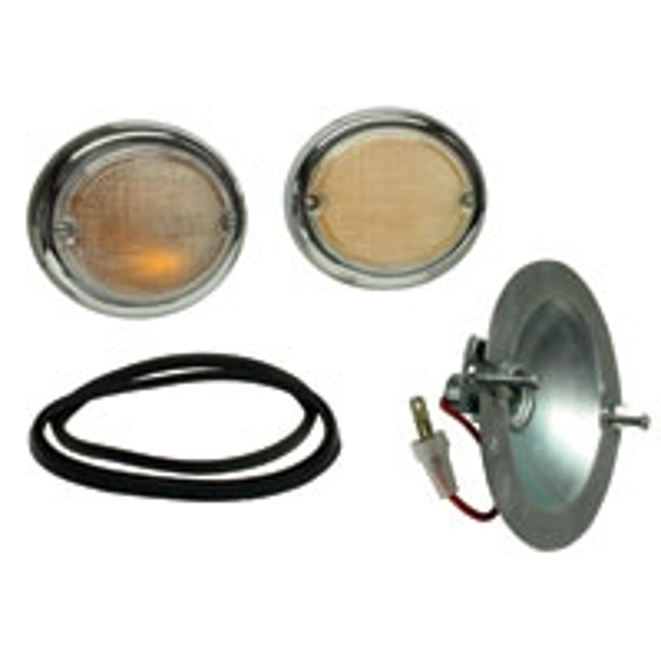 Splitscreen Bus Fish Eye Indicator Assemblies - Pair - 1963-67