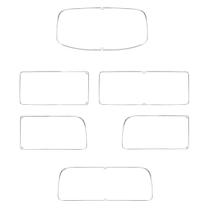 Baywindow Bus Window Seal Deluxe Moulding Kit - With Side Quarter Lights (Metal Trim With Clips)
