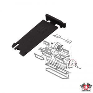 Type 25 Heater Box Footwell Flap Bearing Plate - Left