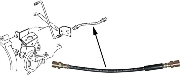 T25 79-92 Hydraulic Clutch Hose For Gearbox (Female Female Ends) 325mm