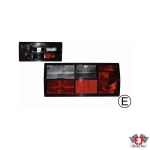 Type 25 Red and White Tail Light - Left - Hella Bulb Cluster (E Marked)