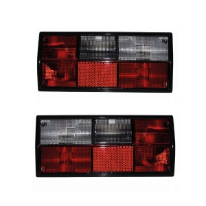 Type 25 Red and White Tail Light Bundle Kit - Hella Bulb Cluster (E Marked)