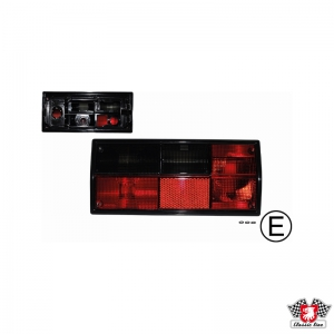 Type 25 Red and Smoked Tail Light - Left - Hella Bulb Cluster (E Marked)