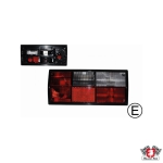 Type 25 Red and White Tail Light - Right - Hella Bulb Cluster (E Marked)