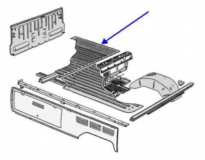 Splitscreen Single Cab Pickup Load Bed - Complete Front Section (2 Pieces)
