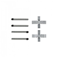 Front Brake Pad Fitting Kit (Square 2 Pin) - T1, KG (1972 ONLY), T3 (1965-71)