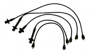 Black HT Lead Set - Type 4 Engines - (Socket Coil And Distributor Cap)