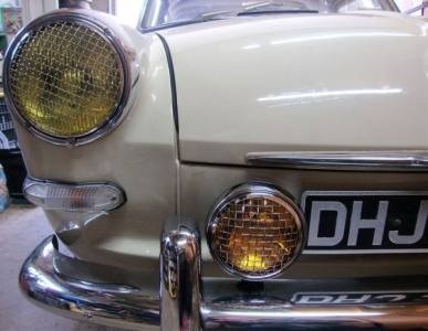 Amber Spotlight With Mesh Grille