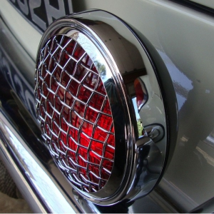 Red Spotlight With Mesh Grille