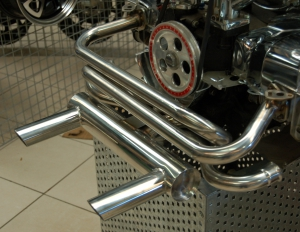 **NCA** Stainless Steel Monza 2 Tip Exhaust - Type 1 Engines (Not 1200cc)