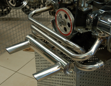 Stainless Steel Monza 2 Tip Exhaust - Type 1 Engines (Not 1200cc)