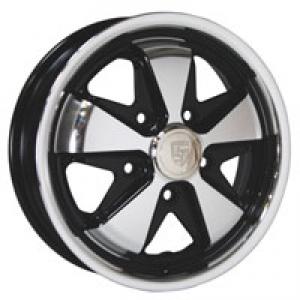 4.5 x 15 Gloss Black SSP Fook Alloy Wheel - 5x130 PCD