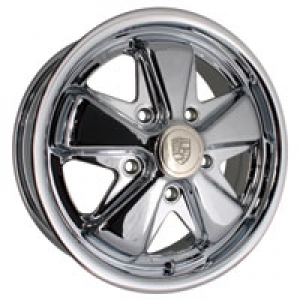 4.5 x 15 Chrome SSP Fook Alloy Wheel - 5x130 PCD