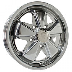 4.5 x 15 Polished SSP Fook Alloy Wheel - 5x130 PCD