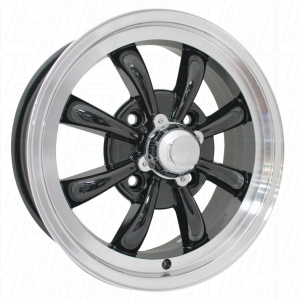 Black SSP GT 8 Spoke Alloy Wheel - 4x130 PCD