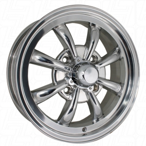 Polished SSP GT 8 Spoke Alloy Wheel - 4x130 PCD