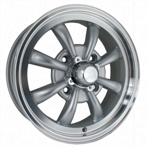 Silver SSP GT 8 Spoke Alloy Wheel - 4x130 PCD