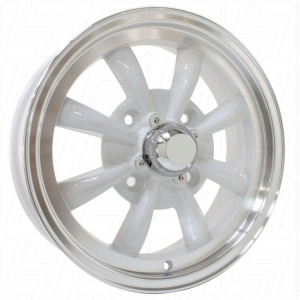 White SSP GT 8 Spoke Alloy Wheel - 4x130 PCD