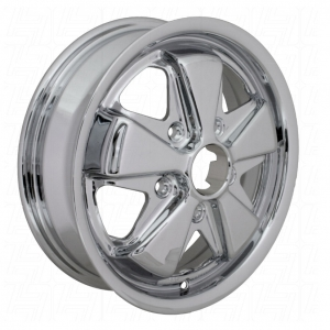 **NCA** TUV Approved 4.5 x 15 Chrome SSP Fook Alloy Wheel - 5x130 PCD