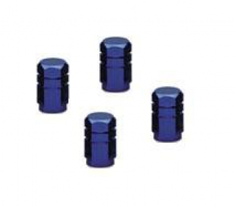 Wheel Valve Caps - Blue Aluminium Anodized