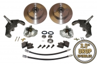 Beetle Front Disc Brake Conversion Kit 4x130 With Drop Spindles - 1966-79