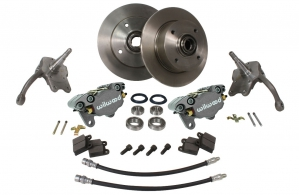 Beetle Front Disc Brake Conversion Kit - 1966-79 - With Silver Wilwood Calipers