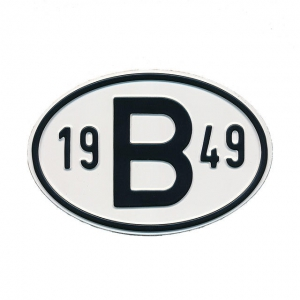 1949 B Country Plate