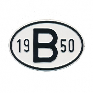 1950 B Country Plate