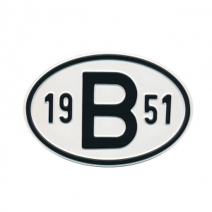 1951 B Country Plate