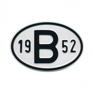 1952 B Country Plate