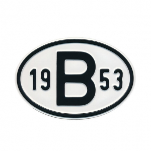 1953 B Country Plate