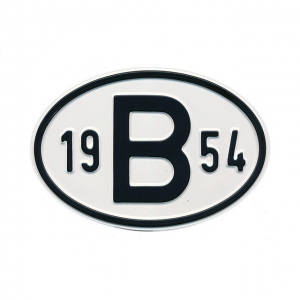 1954 B Country Plate