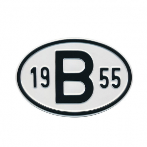 1955 B Country Plate