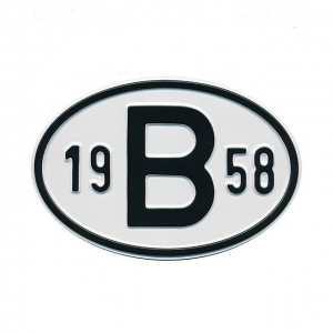 1958 B Country Plate