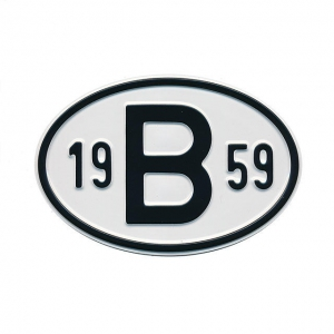 1959 B Country Plate